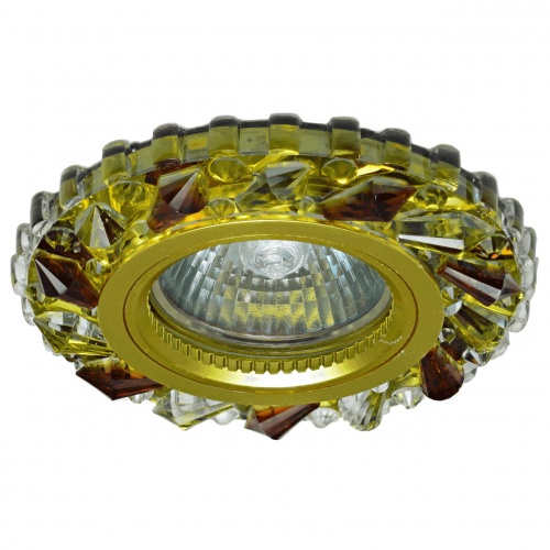 Светильник MR16+LED 3W 4000K встраиваемый ПОЛИКРИСТАЛЛ, G/CLEAR GOLD+TEA IL.0027.1170